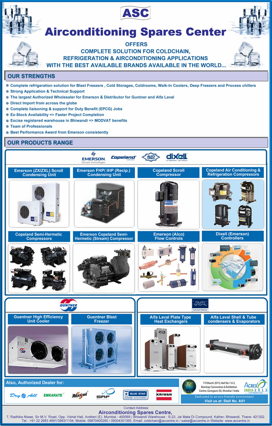 Airconditioning Spares Centre Emailer